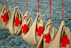 Safety Sacks.  Great idea to put together and take to the Red Cross or maybe the local fire house?