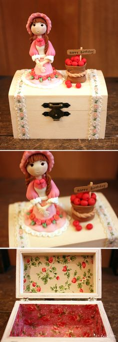 Small Jew Box(red apple) by Yusie Handmade