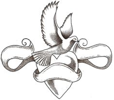 Love Heart Letter Tattoo Design photo - 2