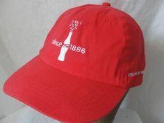 Coke Coca Cola Since 1886 Adjustable Strap Cap Red Hat White Embroidered Logo #CocaCola #BaseballCap