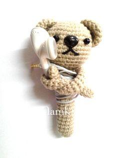 Headphone Case Handmade Crochet TT 005 by Namkhing on Etsy, ฿150.00