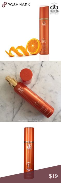 Arbonne RE9 Regenerating Toner A quick misting of this antioxidant-rich, ph-balanced toner refreshes skin and prepares it for the next step - firming and lifting the skin's appearance. Use in the morning and in the evening after cleanser. Apply a small amount to the face and neck by misting or using a cotton ball. Do not rinse after application. [NIB - Never used] Arbonne Makeup