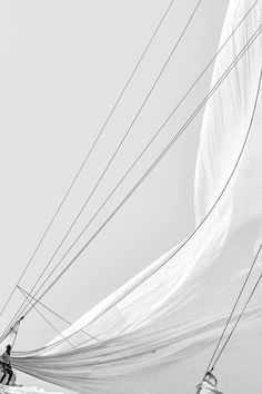 Rope & Rigging | Black & white photo | sail & rigging