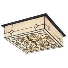 Stained glass entryway ceiling light......if big enough, put in kitchen ceiling :)