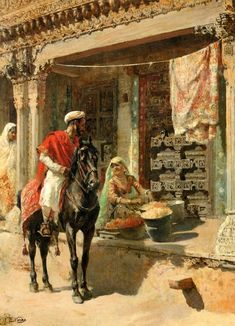 Street Vendor, Ahmedabad, 1885 Painting by Edwin Lord Weeks, American, 1849 - 1903 Islamic Paintings, Indian Art Paintings, Indian Artwork, Portrait Paintings, Oil Paintings, The Snake, Nocturne, Arabian Art, Most Famous Paintings