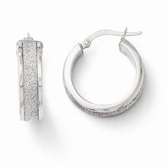Perfect Jewelry Gift Leslies 14k Fancy Glimmer Infused Hoop Earrings