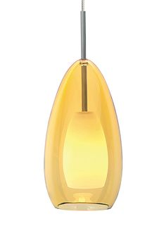 Tear-Si Coax LBL Opal-cased glass enclosed in mouth-blown transparent teardrop shaped glass.