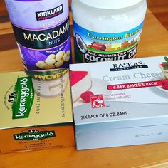 Fat fast essentials. I love Costco  #lchf #keto #ketogenicdiet #ketosis #fatfast #costco #coconutoil #creamcheese #macadamianuts #kerrygold #kerrygoldbutter  #losingweight #weightlossjourney #weightloss #nocarbs #nocarbsplease #eatyourfats #type1diabetic #type1d #type1grit @paleo_simple I love macadamia nuts! Why have I not had these before?!! by jke_type1d_lchf