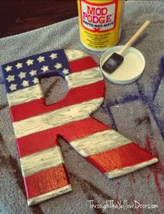 Through the Yellow Door: 4th of July Front Door Decoration: DIY Project