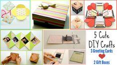 DIY School Supplies ! 5 Back to school Crafts ! 3 Easy Greeting cards & ...