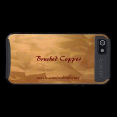 Brushed Copper Skinit case for the Iphone 5.