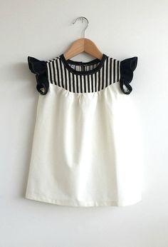 Handmade Cotton Dress With Stripe Detail | SwallowsReturn on Etsy