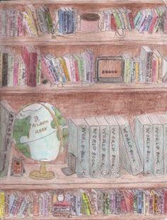 Bookshelf by airbornefishies on @DeviantArt