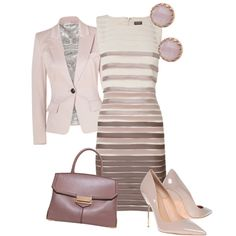 A fashion look from December 2013 featuring Phase Eight dresses, Emilio Pucci blazers and Kurt Geiger pumps. Browse and shop related looks.