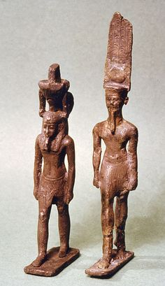 Pendants in the Shape of Amun-Re and Nefertem.between circa 900 and circa 750 BC (Third Intermediate)