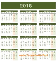 kalendarz zielony2