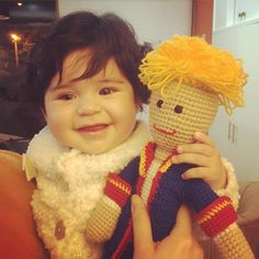 "algodon_de_azucar78 #thelittleprince and his little princess  #derkleineprinz und seine kleine Prinzessin  #elprincipito y su pequeña princesa   Check out my Facebook Fanpage: ""Algodón de azúcar - Casita de muñecas"" #crochet #ilovecrochet #häkeln #ichliebehäkeln #amigurumi #crochetparaniños #kuscheltiere #cuddletoys #peluches #crochetfanatic #crochetfan #crochetfun #häkelnisttoll #häkelfan #crochetaddict #crochetersofinstagram #crochetlover #amotejer #häkelnmachtglücklich #häkelnistyoga…"