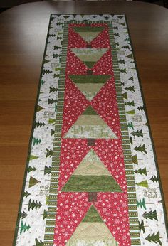 Christmas Tree Quilted Table Runner Table Runner Quilt