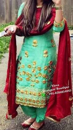 New Punjabi Suit Design Punjabi Fashion, Bollywood Fashion, Indian Fashion, Women's Fashion, Fashion Ideas, New Punjabi Suit, Punjabi Dress, Salwar Dress, Punjabi Bride
