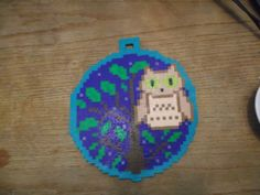 Owl in a Tree ornament perler beads by Soggy_Enderman