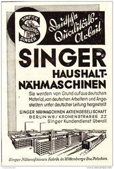 Original-Werbung/ Anzeige 1930 er Jahre - SINGER NÄHMASCHINEN - ca. 65 x 100 mm