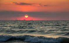 The Chicago Skyline from Indiana by Tom Adams