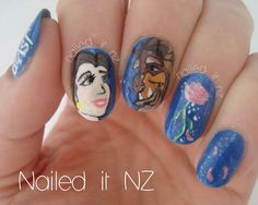 Nailed It NZ: Disney nail art #2: Beauty and the Beast! http://nailedit1.blogspot.co.nz/2013/05/disney-nail-art-2-beauty-and-beast.html