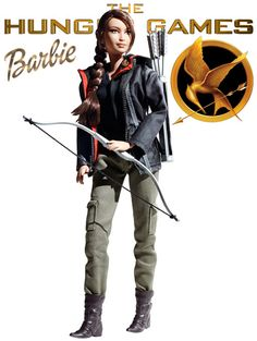 I don't know whether to be upset or excited about this. Leaning towards upset and sad...Katniss is a better role model than Barbie!!! Hunger Games - Katniss Doll by Barbie