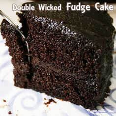 double wicked fudge cake