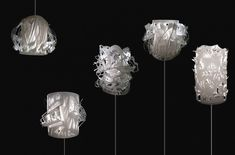 Layering, shadows and light from a flat material - Cloud Lamps by Jordy Fu