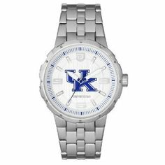 Fossil Kentucky Wildcats Defender Stainless Steel Watch by Fossil. $99.00. It's time for you to display your dapper Wildcats style with this Defender watch from Fossil. This elegant time piece features a stainless steel band, the team logo in the center of the face and glow-in-the-dark hands, so you can always tell the rivals what time it is!Stainless steel case & braceletFolding clasp3-hand quartz analog movementWater resistant up to 10 ATMGlow-in-the-dark handsLimited 1...