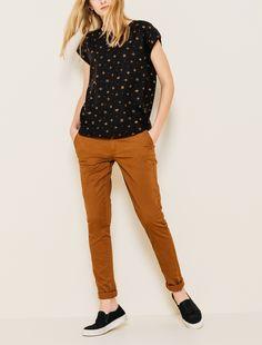 Pantalon chino slack femme   Bizzbee Plus