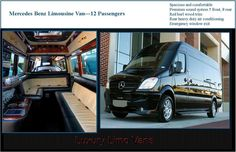 1000 images about party limo bus van on pinterest limo for Mercedes benz sprinter van rentals atlanta