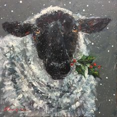 Wren the Christmas Sheep prints availed at mmveazie.com
