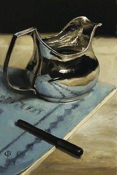 James Gillick  Silver Jug, Pen & Book  2011. Amazing talent