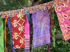 Glitzy Gypsy Celebration Flag garland with multicolor by ArtToGo