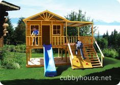 Chipmonk Kindy Gym Cubby House Australian-Made Wooden Playground Equipment DIY Kits Cubby House Plans, Cubby Houses, Play Houses, Build A Playhouse, Playhouse Outdoor, Playhouse Slide, Backyard Playground, Backyard For Kids, Backyard Ideas
