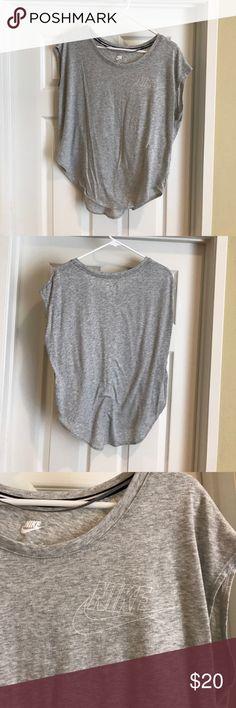 Nike shirt Grey of the shoulder workout shirt. Worn once. Nike Tops Crop Tops