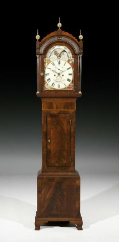 Mahogany Moonphase Longcase Clock - The Association of Art and Antique Dealers - LAPADA