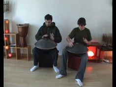 Cousins play Hang Drum - really beautiful sounds