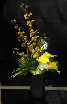 yellow tropical arrangement