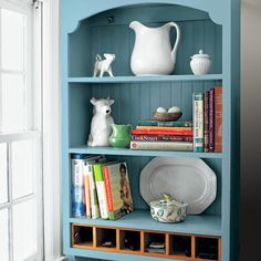A vintage hutch is updated with cubby organizers. | Photo: David Prince | thisoldhouse.com