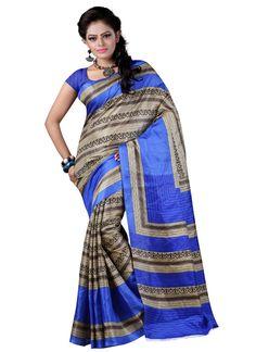 Exclusive Ladies Bhagalpuri Silk Saree - 7 Days Easy Return, Buy Designer Saree,Bhagalpuri Saree, Embroidery Saree, Party Wear Saree, etc..