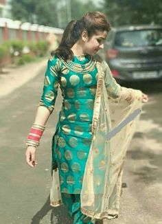 Cute Aditi in Punjabi Dress Salwar Designs, Patiala Suit Designs, Kurti Designs Party Wear, Blouse Designs, Punjabi Fashion, Indian Fashion, Salwar Kameez, Churidar, Punjabi Salwar Suits
