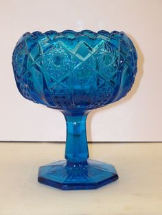 Vintage 1950's LE Smith Glass Compote McKee by GarageSaleGlass, $29.99