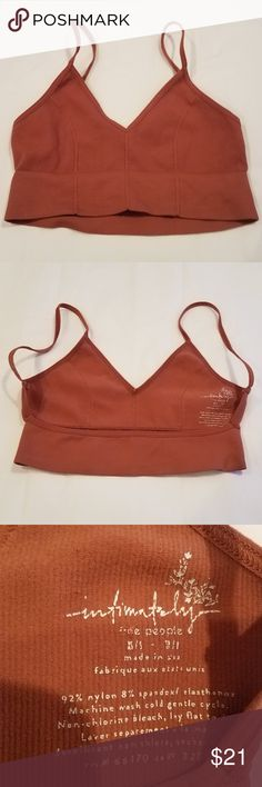 e99cdff5f72fa New💋Free People Intimately Bralette Orange XS-S New without Tags Frer  People Intimately