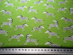 Stoff Tiermotive - Baumwollstoff ZEBRAS  - ein Designerstück von skatje bei DaWanda