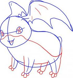 How To Draw Patamon From Digimon Step By Anime Characters