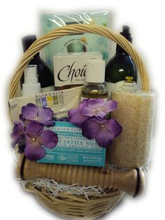 Home Spa All-Natural Relaxation Gift Basket