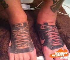 Worst sneaker tattoos...ever.